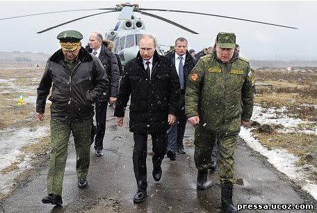 Путин посетил учения в Санкт Петербурге